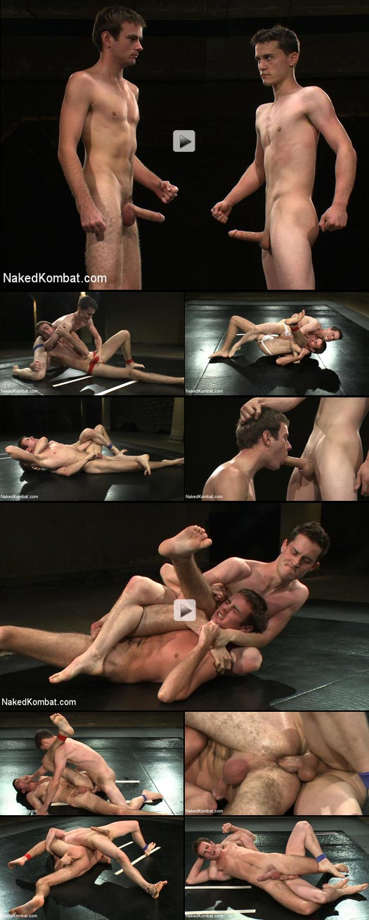 Naked twinks grapple and struggle in this hot wrestling match
