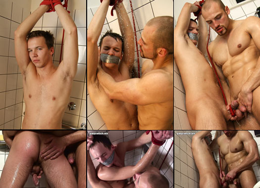 hot twink bondage in the shower